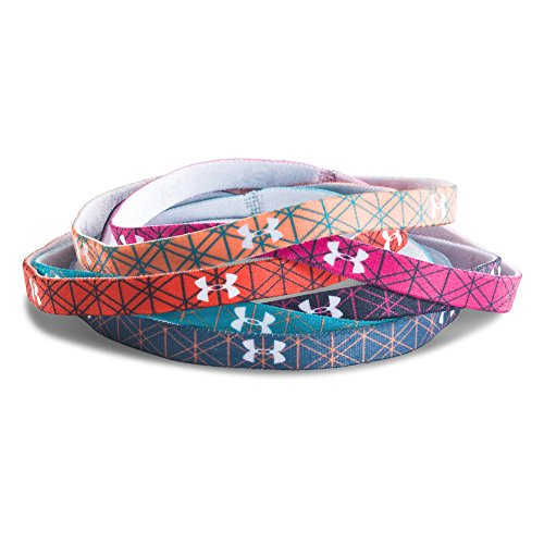 Price comparison product image Under Armour Girl's UA Graphic Mini Headbands OSFA Lined Teal/Orange
