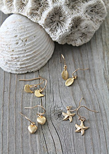 Little girl earrings - 14k gold filled or sterling silver dangle child earrings, French ear wires, hearts, starfish, leaves, birdies birds,children jewelry, baby, flower girl, christening -