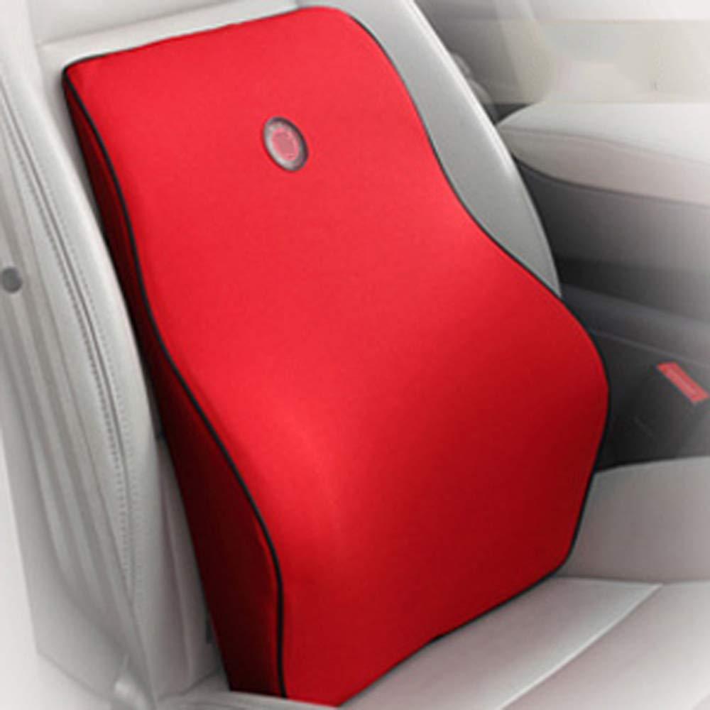 LCZDP Car Cushion, Office Waist Care Back Pillow Bedside Cushion Sofa Cushion Home Computer Chair Backrest Suitable for Four Seasons(Brown,45 * 38 * 12.5cm)
