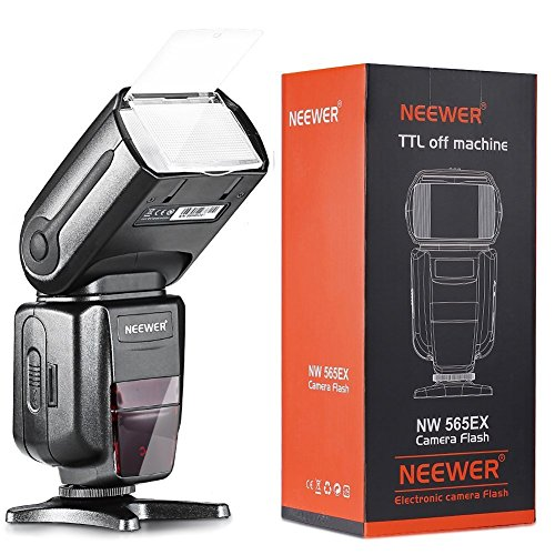 Neewer NW-565 EXN I-TTL Slave Speedlite with Flash Bounce Diffuser for Nikon D4, D3s, D3x, D300s, D200, D100, D80, D70s, D3200, D3100, D3000, D60, D40X, D800, D7100 and All Other Nikon Models by Neewer
