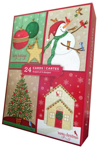 Traditional Assortment - Image Arts Box of 24 Christmas Cards