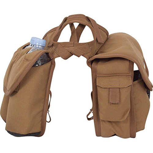 Cashel Quality Deluxe Medium Horse Saddle Pommel Horn Bag, Insulated Padded Pockets, Two Water Bottle Pockets, Camera or Cell Phone Pocket, 600 Denier Material, Size: Medium Color Brown