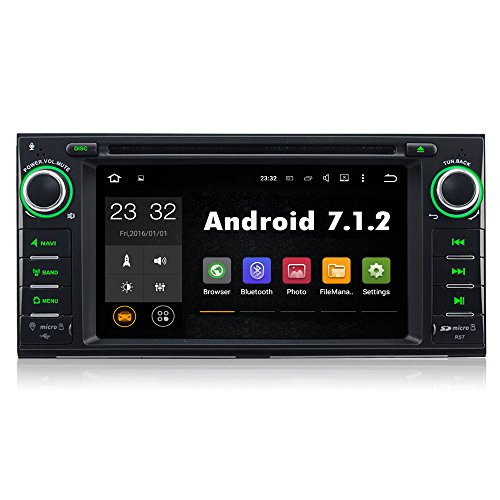 A-SURE Android 7.1.2 DVD GPS Navigation Stereo DAB+ 1G RAM for Jeep Grand Cherokee Wrangler Compass Patriot Commander Liber SECSE Two-Year-Warranty (2011 Jeep Liberty Navigation)