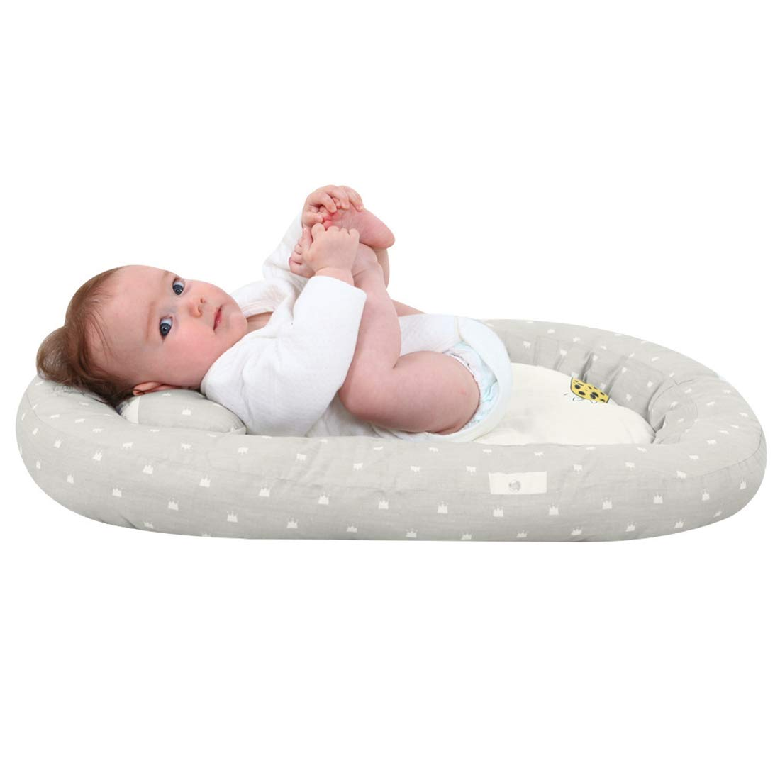 Baby Nest Reductor Protector Port/átil de Viaje Respirable Tumbona Cama para Dormir para Beb/és con Almohadilla Extra/íble Jiyaru Nido Cuna Suave para Beb/é