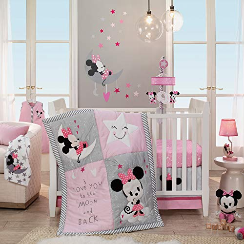 Bedding Disney Baby Crib - Disney Baby Minnie Mouse Pink 4-Piece Nursery Crib Bedding Set by Lambs & Ivy