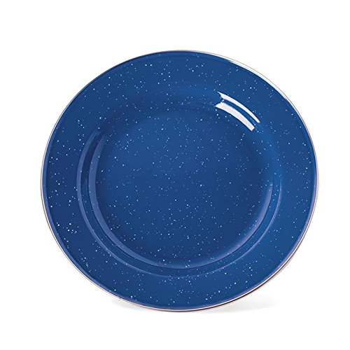 ENAMEL DINNER PLATE - S.S. EDGE - 10 INCH, Case of 24 by Stansport