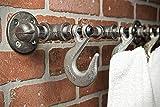 Industrial Coat Hook - Hat Hook - Coat Rack - Hat Rack - Towel Rack - Wall Decor - Bath Decor - Home Decor - Rustic - Hanger