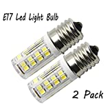 12v appliance bulb - Led E17 light bulb 4W (equivalent halogen 40W), E17 Base R16 R14 type, AC110V-130V, Daylight 6000K (360 lumens), E17 LED Dimmable Bulb for Microwave Oven Appliance. (2 pack)
