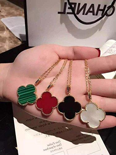 925 Silver _Carnelian_onyx_Malachite_ green white Queen _Fritillaria_double_ women girl long necklace Pendant (Carnelian Onyx)