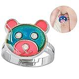 Inspiration Bear Finger Ring Adjustable Size Decorations Mood Ring Color Changing