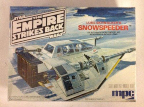 - 1980 Mpc Scale Model Kit the Empire Strikes Back Starwars Snowspeeder Luke Skywalker's