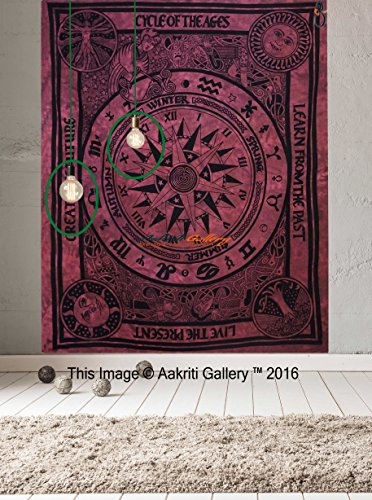 Tapestry Single hippie mandala Wall decor Hanging Art Decor Mandala Tapestries Hippie Dorm 84X55 inches AAKRITI GALLERY