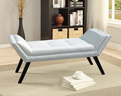 Baxton Studio Wholesale Interiors Tamblin Modern and Contemporary Faux Leather Upholstered Large Ottoman Seating Bench, White