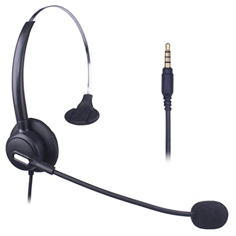 Xintronics Auriculares Teléfono Móvil Mono, Cancelación de Ruido Micrófono, Cascos 3,5 mm
