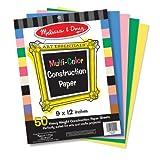 Melissa & Doug Multi-Color Construction Paper, 9-Inch x 12-Inch
