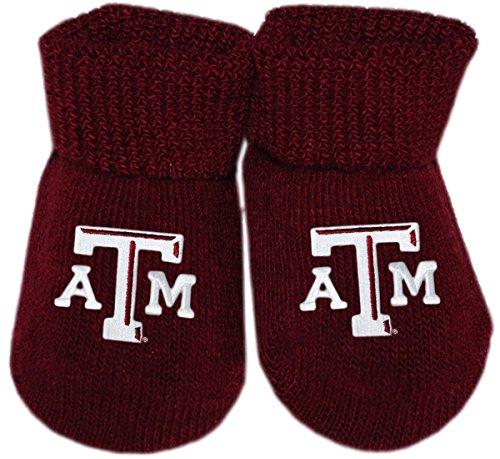 Creative Knitwear Texas A&M Aggies Newborn Baby Bootie Sock ()