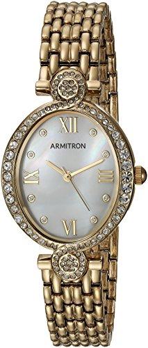 Armitron Women's 75/5521MPGP Swarovski Crystal Accented Gold-Tone Bracelet Watch