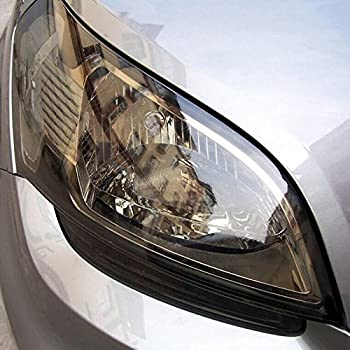 fangfei 12 48 inches Self Adhesive Auto Car Tint Headlight Taillight Fog Light Vinyl Smoke Film Sheet Sticker Cover (Light Black)