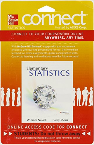 Connect Statistics Hosted by ALEKS 52 Week Access Card for Elementary Statistics