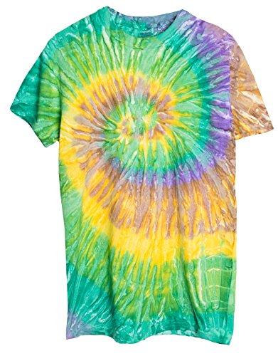 Ragstock Tie Dye T-Shirt, Mardi-Gras - XL ()
