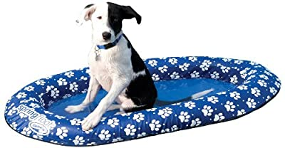 SwimWays Spring Float Paddle Paws Dog Pool Float from SPIG9