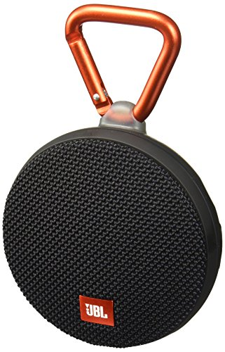 JBL Clip 2 Waterproof Portable Bluetooth Speaker (Black) (Jbl Flip Ii Wireless Portable Stereo Speaker)