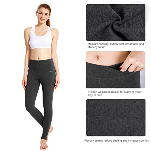 Baleaf Women's High Waist Yoga Pants Non See-Through