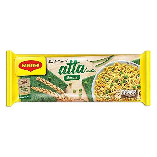 Maggi Nutri-licious Atta Noodles, Masala, 300 grams - 10.58 oz pack, Vegetarian, India