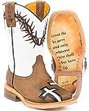 Tin Haul Shoes Boys' Crosses Western Boot, Tan, 9 Medium US Toddler