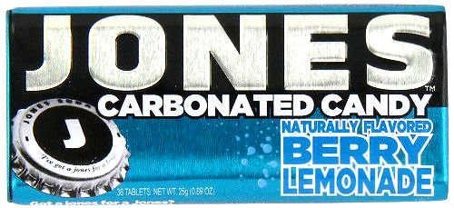 JONES Soda Carbonated Candy, Berry Lemonade, Pack of -