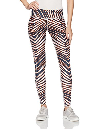 Zubaz Unisex Casual Printed Athletic Lounge Leggings, Black/Orange, -