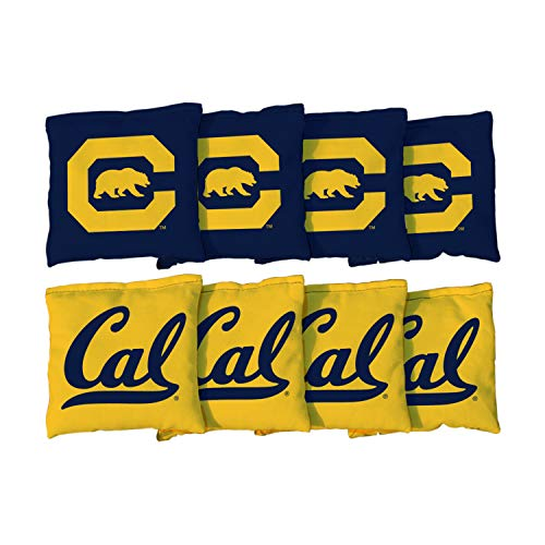 Victory Tailgate NCAA Collegiate Regulation Cornhole Game Bag Set (8 Bags Included, Corn-Filled) - Univ. California - Berkeley Golden Bears