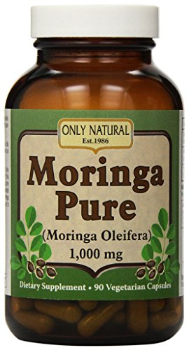 Only Natural Moringa Pure (Pack of 1) - 1000 mg - 90 Vegetarian Capsules