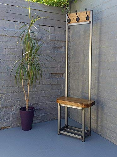 Wondrous Coat Stand Narrow Hallway Bijou Coat Rack Bench Seat And Shoe Storage Ideal For Porch Industrial Chic Pabps2019 Chair Design Images Pabps2019Com