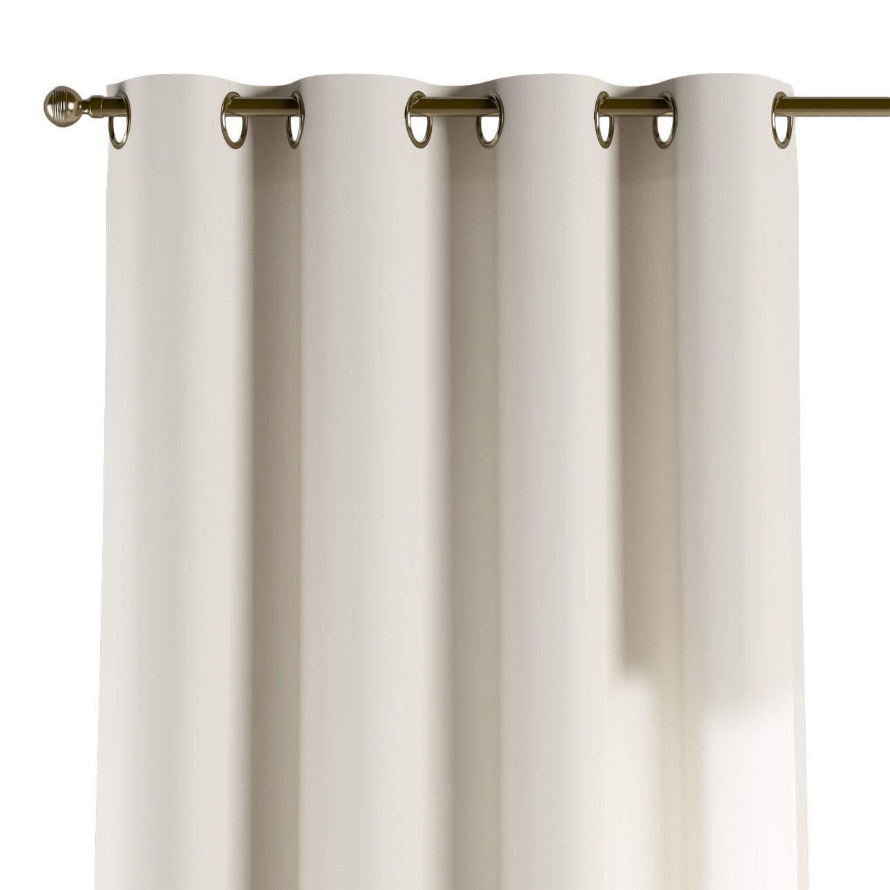 Dekoria Ösenschal Dekoschal Blickdicht 1 Stck. 130 × 260 cm weiß/Ecru Maßanfertigung möglich