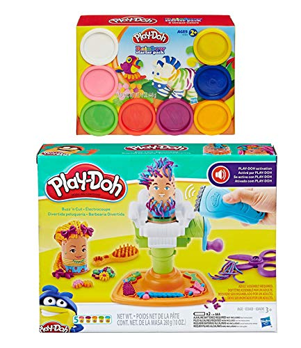 0cb1d9c4f1e Amazon.com: PD Play Doh Buzz 'n Cut Play Set + Play Doh Rainbow Starter  Pack Bundle: Toys & Games