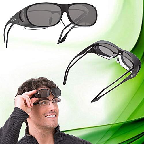 Sol las a gafas graduadas de polarizada sobreponer para Gafas awq5OXn
