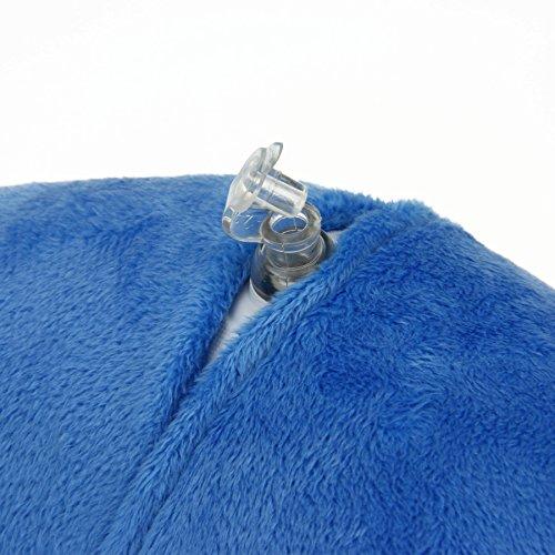 Greeney Aufblasbares Nackenhörnchen Nackenstütze Reisekissen Neck Support Stützkissen Nackenkissen für Autofahren Reisen Fernsehen Arbeiten (Grün) Blau UZgyxl6