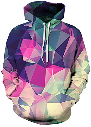 406c57e76de8 Galleon - FLYCHEN Men's Digital Print Sweatshirts Hooded Top Galaxy Pattern  Hoodie Gradual Purple Crystal 2XL /3XL