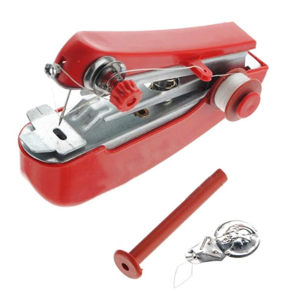 Nicedeal mini macchina da cucire portatile palmare macchina da cucire infila Quick Stitch strumento per la casa viaggio colore casuale