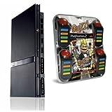 Playstation 2 - Konsole PS2 Black Slim & BUZZ: Das Film-Quiz & Buzzer