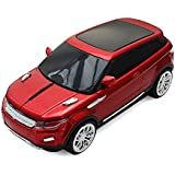 Wireless 2.4GHz Sport Car SUV Shape Mouse Optical Mouse Mice Ergonomic Design for Computer Laptop Red Color