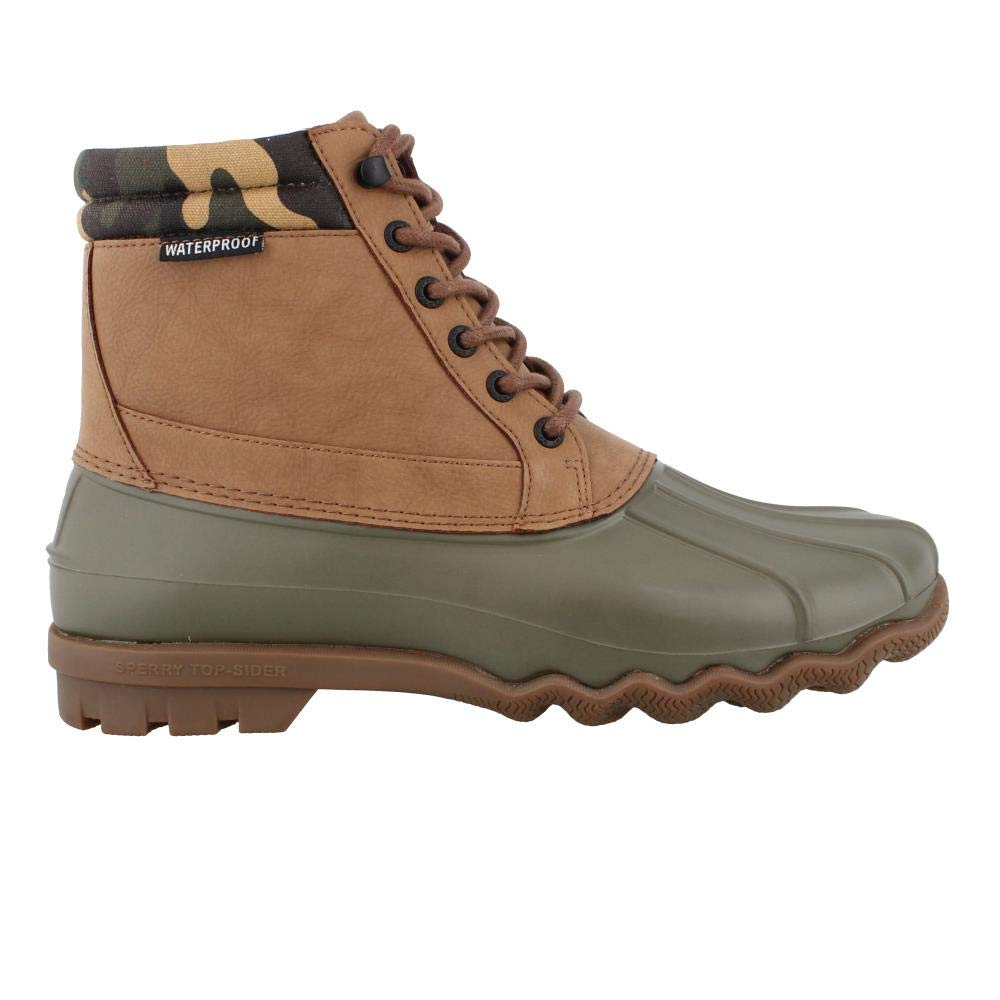 Sperry Men's, Brewster Waterproof Boot TAN CAMO 9 M