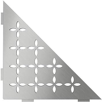 Schluter Systems Triangular Corner Shelf-E Curve Design Kerdi Shower Accessory