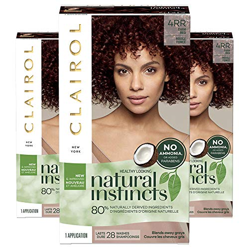 Clairol Natural Instincts, 4RR Dark Red, Sweet Cherry, 3 Count