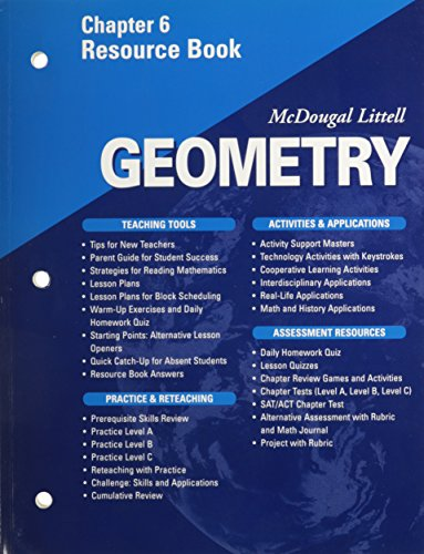 McDougal Littell - Geometry - Chapter 6 Resource Book