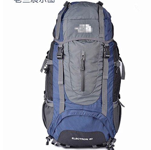 Outdoor Klettern Beutel 60L Leichtes Klettern Taschen, blau