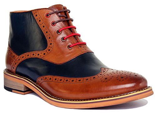 Justin Reece Matt, Scarpe stringate uomo, Marrone (Brown Blue), 40