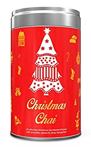 Christmas Tea, Tin Caddy, 100% Pure - The Perfect Christmas Tea Blend, Loose Leaf Tea - Grown, Packaged & Shipped Direct from Source in India - Perfect Tea Gift Set - 3.53oz