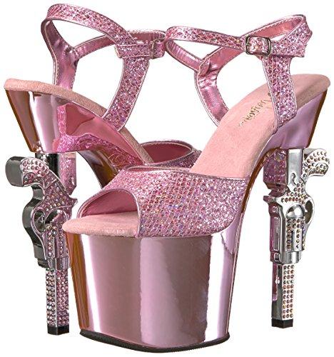 Vestir b Sandalias Gltr Multi Material Pink B De Pleaser Mujer Chrome Para Sintético q1UpxSx